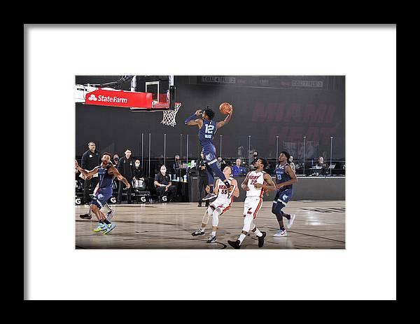 Nba Pro Basketball Framed Print featuring the photograph Memphis Grizzlies v Miami Heat by Joe Murphy