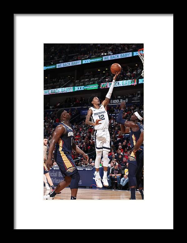 Nba Pro Basketball Framed Print featuring the photograph Memphis Grizzlies v New Orleans Pelicans by Joe Murphy