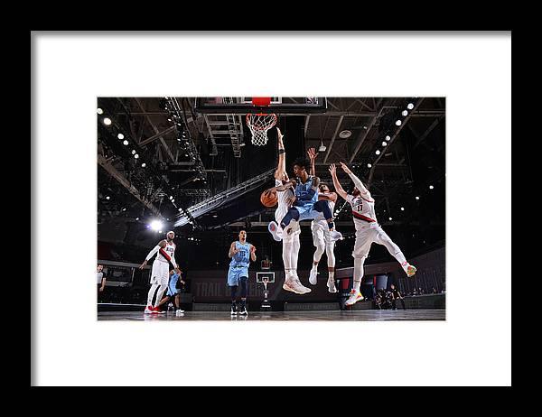 Nba Pro Basketball Framed Print featuring the photograph Memphis Grizzlies v Portland Trail Blazers by Jesse D. Garrabrant