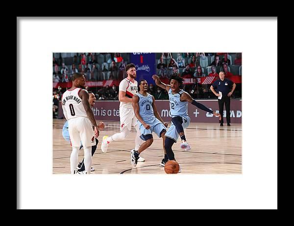 Nba Pro Basketball Framed Print featuring the photograph Memphis Grizzlies v Portland Trail Blazers by Joe Murphy