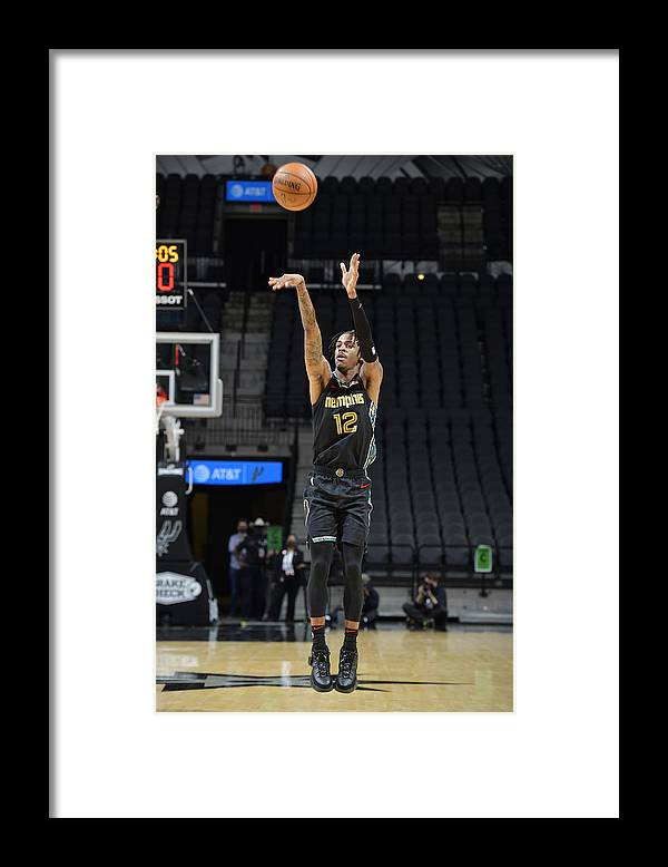 Nba Pro Basketball Framed Print featuring the photograph Memphis Grizzlies v San Antonio Spurs by Logan Riely