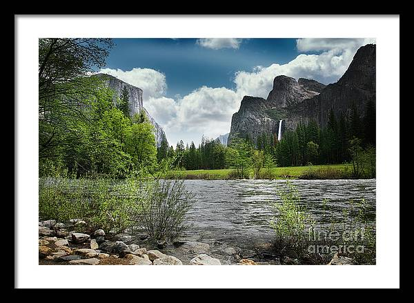 Merced River Yosemite Landscape Nature  by Chuck Kuhn
