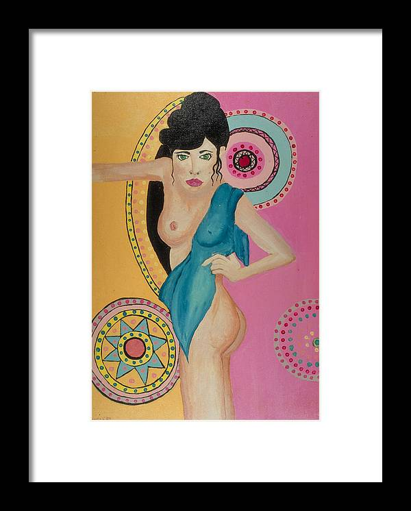 Nude Framed Print featuring the painting Mexican Nights -Too by J Andrel