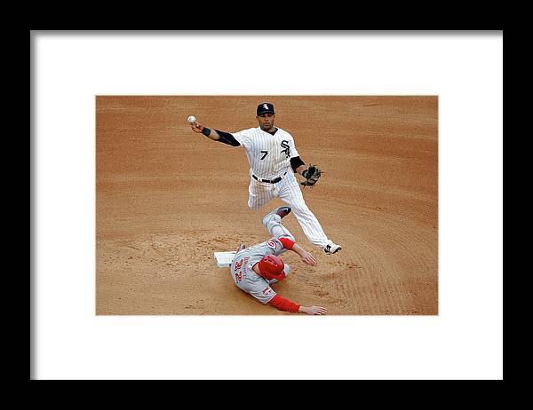 People Framed Print featuring the photograph Micah Johnson and Jay Bruce by Jon Durr