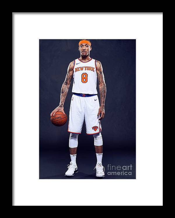Media Day Framed Print featuring the photograph Michael Beasley by Jennifer Pottheiser