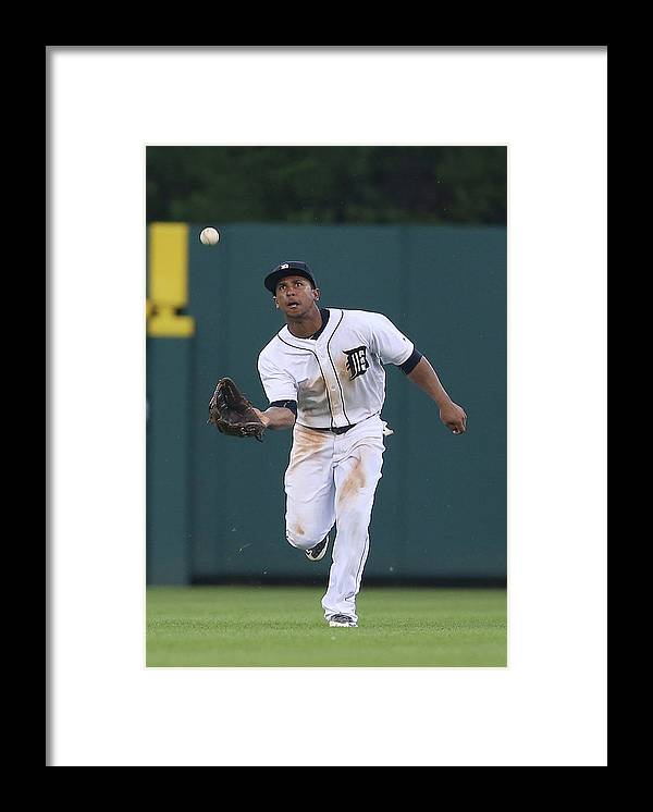 People Framed Print featuring the photograph Michael Bourn and Anthony Gose by Leon Halip