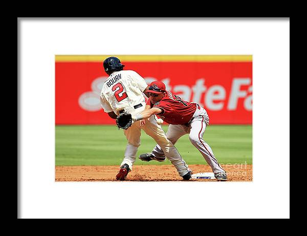 Atlanta Framed Print featuring the photograph Michael Bourn and Nick Ahmed by Daniel Shirey