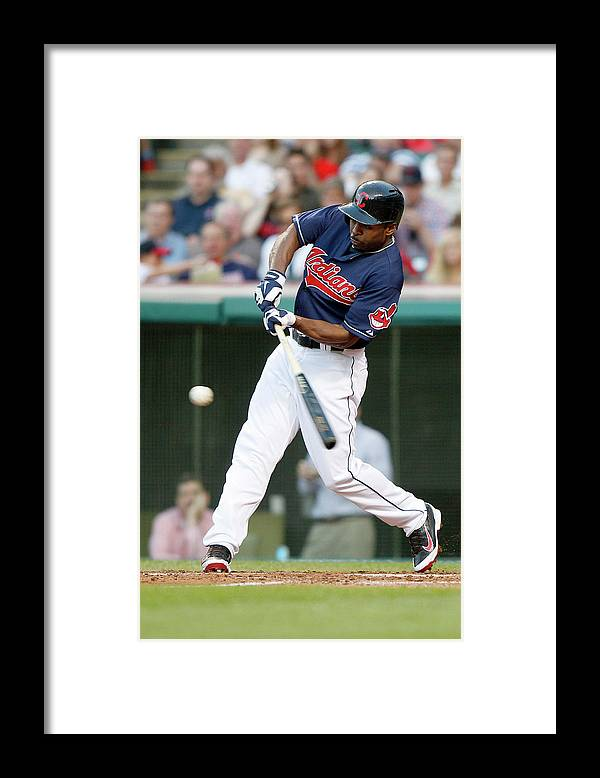 Michael Bourn Framed Print featuring the photograph Michael Bourn by David Maxwell