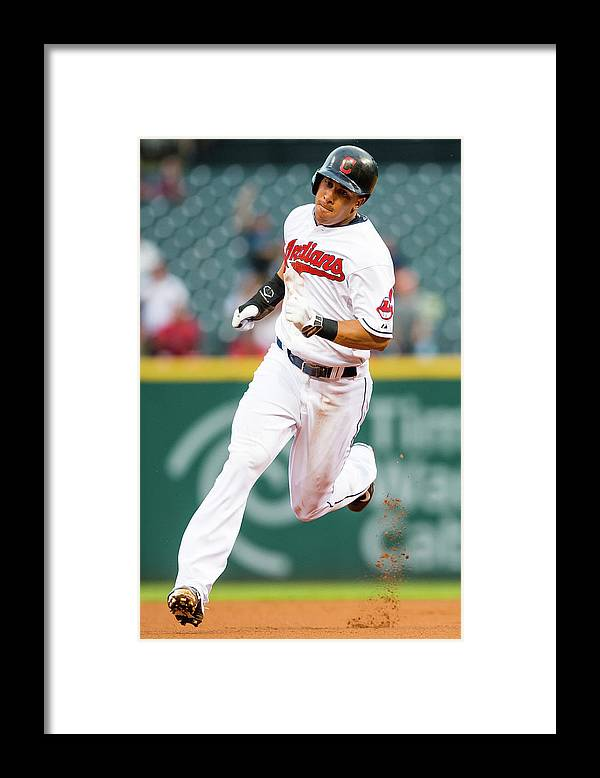 People Framed Print featuring the photograph Michael Brantley And David Murphy by Jason Miller