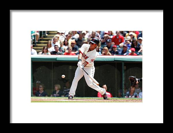 American League Baseball Framed Print featuring the photograph Michael Brantley by David Maxwell