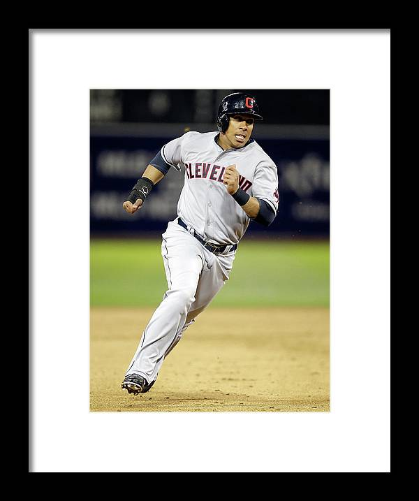 American League Baseball Framed Print featuring the photograph Michael Brantley by Ezra Shaw