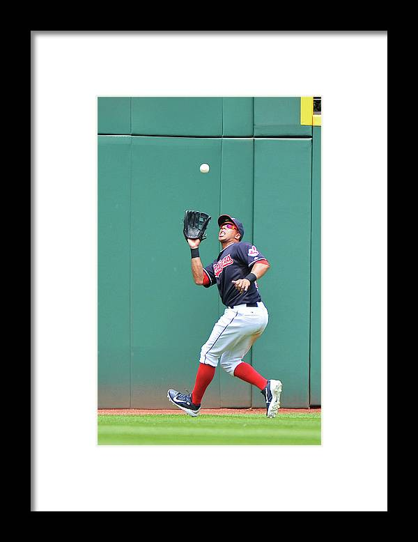 People Framed Print featuring the photograph Michael Brantley by Jamie Sabau