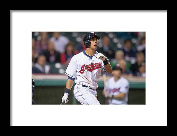 American League Baseball Framed Print featuring the photograph Michael Brantley by Jason Miller