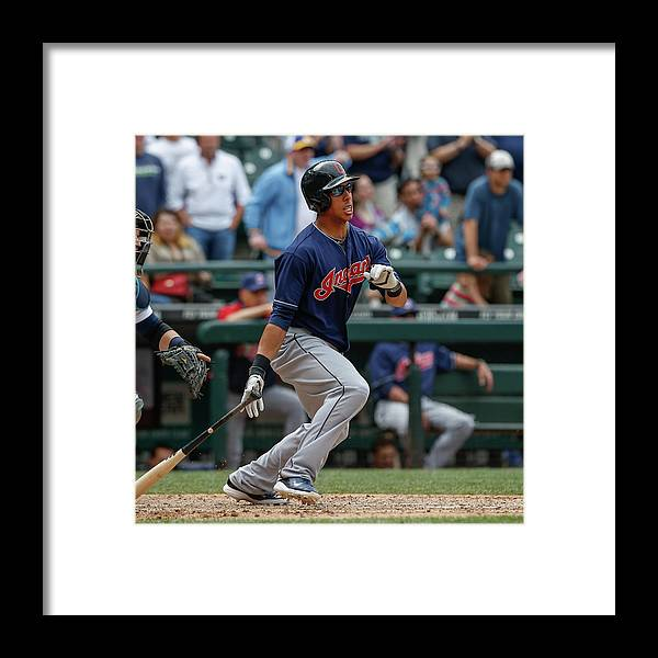 American League Baseball Framed Print featuring the photograph Michael Brantley by Otto Greule Jr