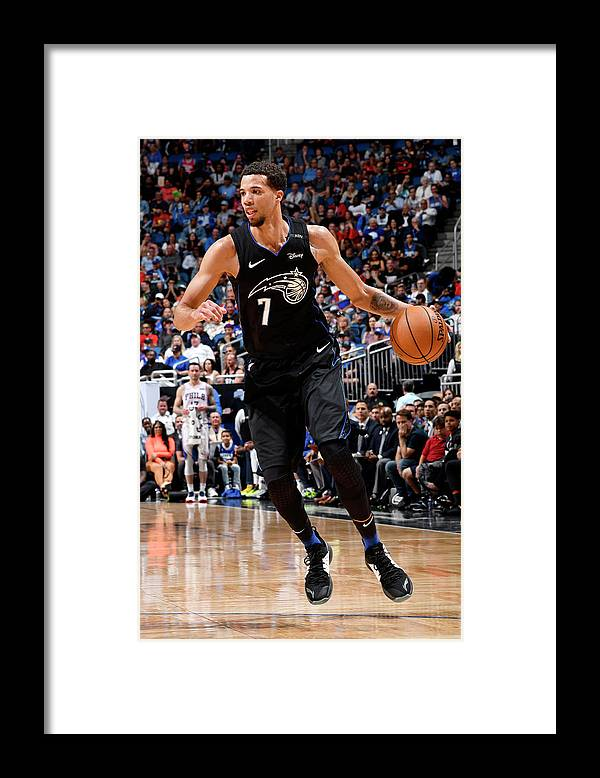 Nba Pro Basketball Framed Print featuring the photograph Michael Carter-williams by Fernando Medina
