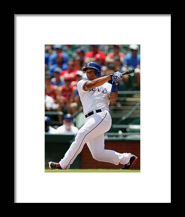 American League Baseball Framed Print featuring the photograph Michael Choice by Tom Pennington