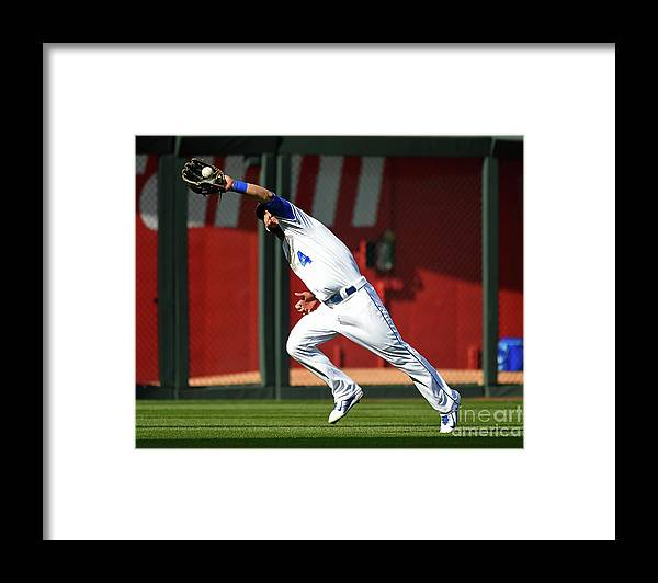 People Framed Print featuring the photograph Michael Conforto and Alex Gordon by Ed Zurga