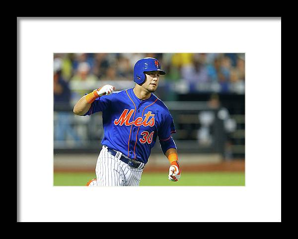 American League Baseball Framed Print featuring the photograph Michael Conforto by Jim Mcisaac