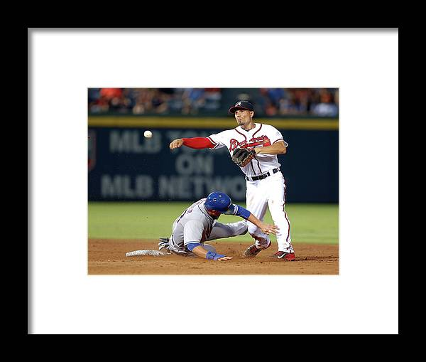Atlanta Framed Print featuring the photograph Michael Cuddyer and Jace Peterson by Mike Zarrilli