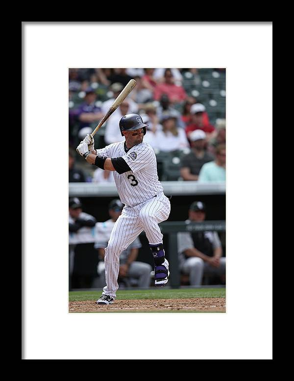 American League Baseball Framed Print featuring the photograph Michael Cuddyer by Doug Pensinger