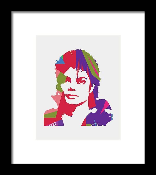 Michael Jackson Framed Print featuring the digital art Michael Jackson 2 POP ART by Ahmad Nusyirwan