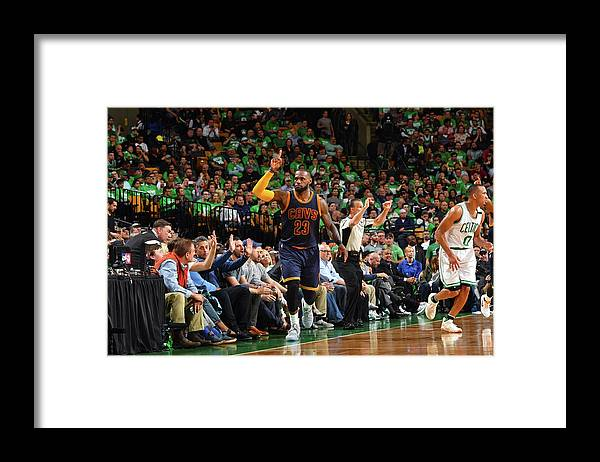 Playoffs Framed Print featuring the photograph Michael Jordan and Lebron James by Jesse D. Garrabrant