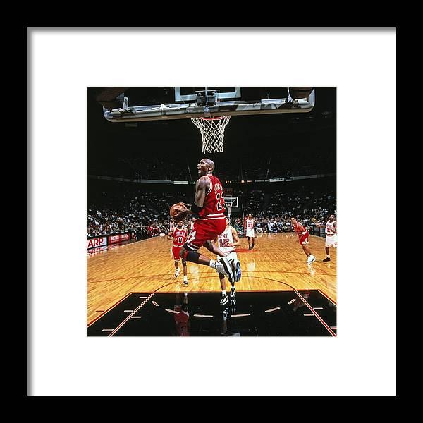 Chicago Bulls Framed Print featuring the photograph Michael Jordan by Nba Photos