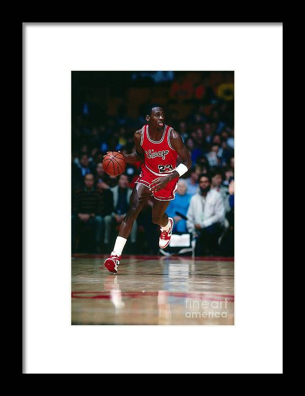 Chicago Bulls Framed Print featuring the photograph Michael Jordan by Scott Cunningham