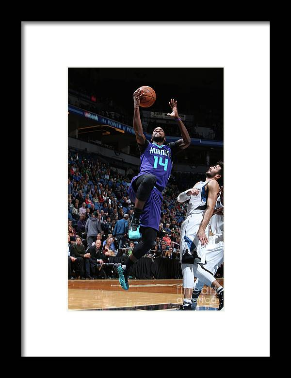 Nba Pro Basketball Framed Print featuring the photograph Michael Kidd-gilchrist by David Sherman