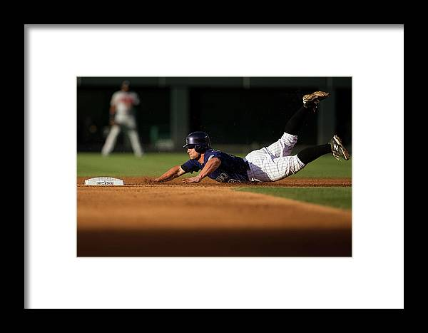 Second Inning Framed Print featuring the photograph Michael Mckenry by Justin Edmonds