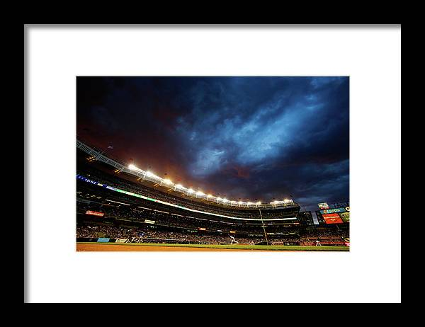 People Framed Print featuring the photograph Michael Pineda by Al Bello