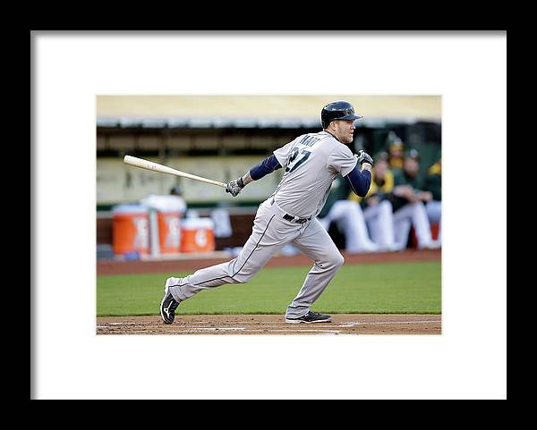 American League Baseball Framed Print featuring the photograph Michael Saunders and Corey Hart by Ezra Shaw