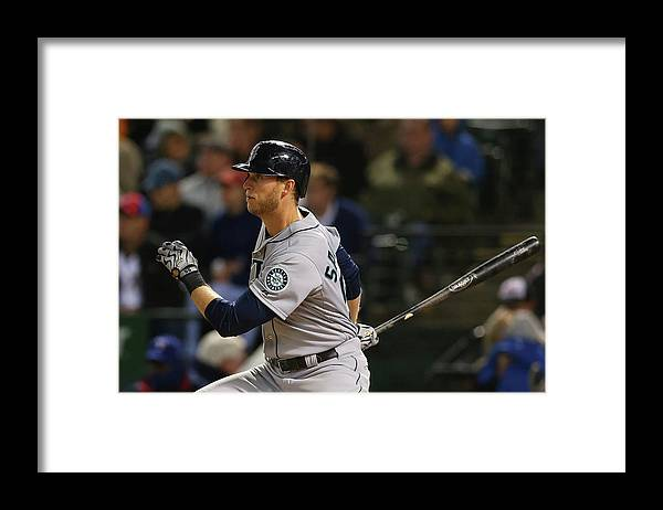 American League Baseball Framed Print featuring the photograph Michael Saunders by Ronald Martinez