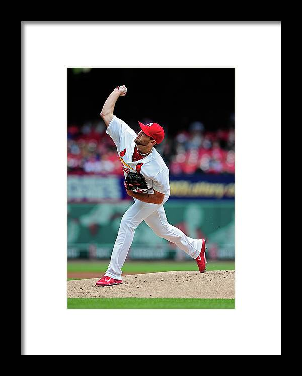 St. Louis Cardinals Framed Print featuring the photograph Michael Wacha by Jeff Curry