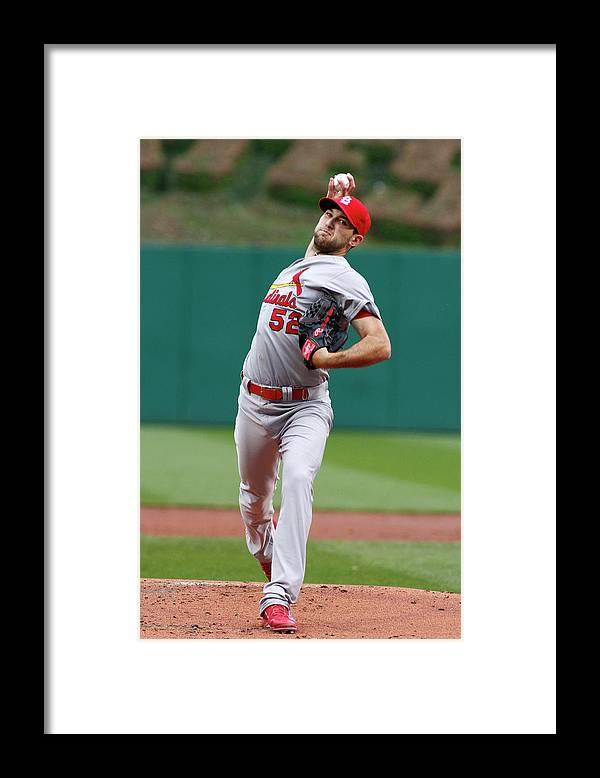 St. Louis Cardinals Framed Print featuring the photograph Michael Wacha by Justin K. Aller