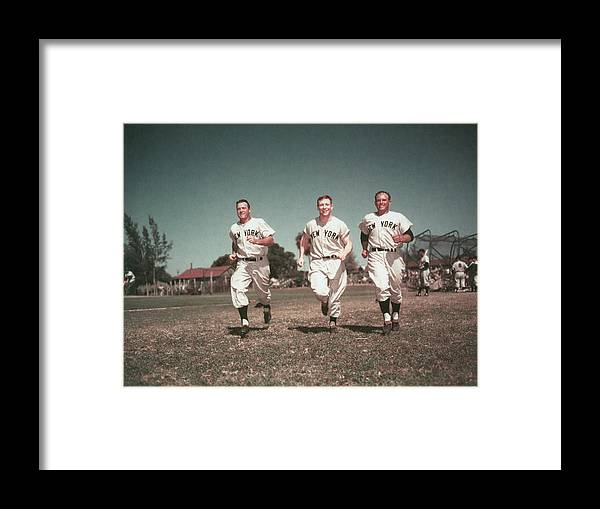American League Baseball Framed Print featuring the photograph Mickey Mantle by Hulton Archive