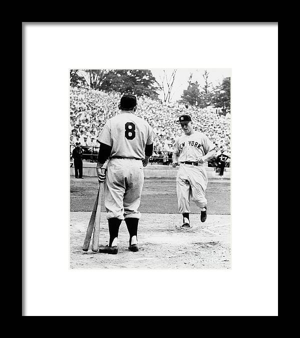 American League Baseball Framed Print featuring the photograph Mickey Mantle by National Baseball Hall Of Fame Library