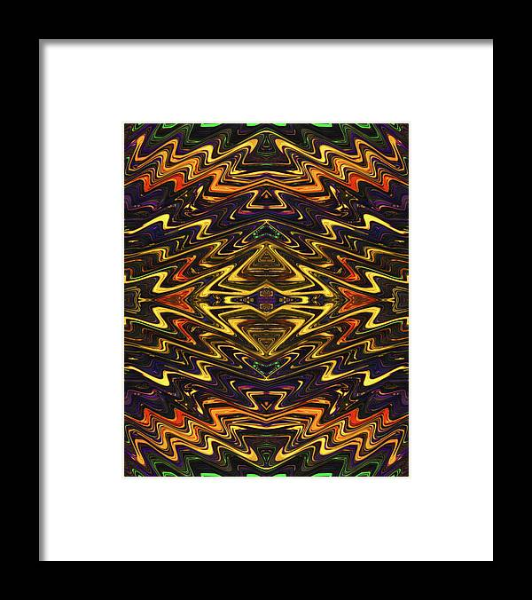 Abstract Framed Print featuring the digital art Microchip of an Ancient Mystic by Jack Entropy