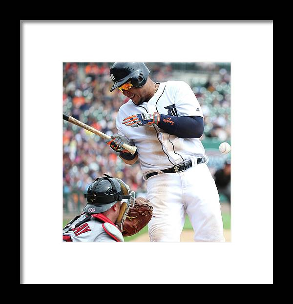 American League Baseball Framed Print featuring the photograph Miguel Cabrera and Clay Buchholz by Leon Halip