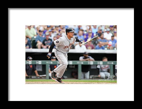 Double Play Framed Print featuring the photograph Miguel Cabrera by Dustin Bradford