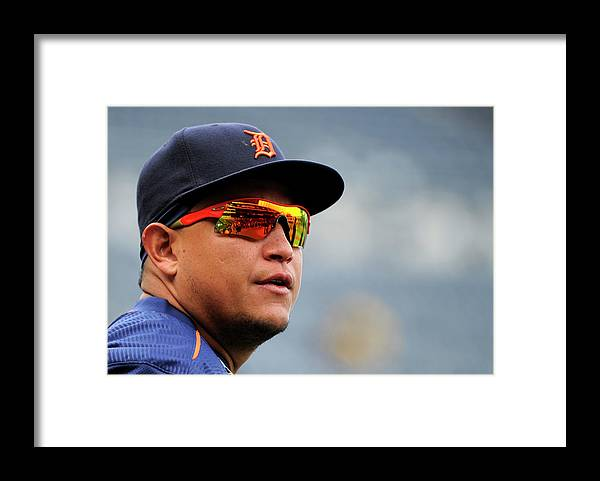 People Framed Print featuring the photograph Miguel Cabrera by Ed Zurga