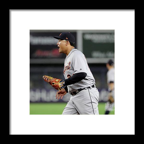 Three Quarter Length Framed Print featuring the photograph Miguel Cabrera by Elsa