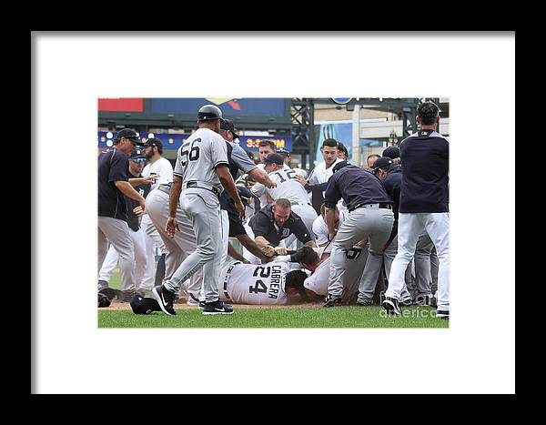 People Framed Print featuring the photograph Miguel Cabrera by Gregory Shamus