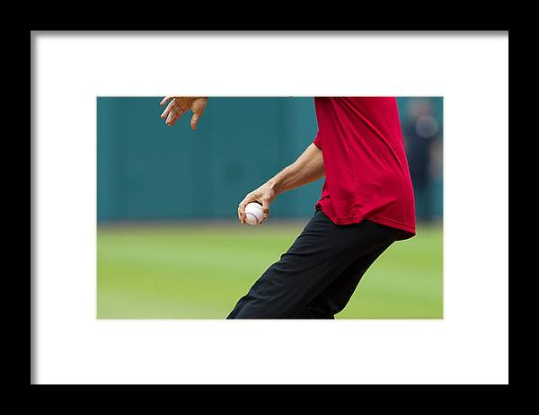 American League Baseball Framed Print featuring the photograph Miguel Cabrera by Jason Miller