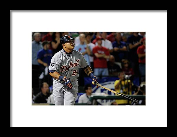 People Framed Print featuring the photograph Miguel Cabrera by Kevork Djansezian
