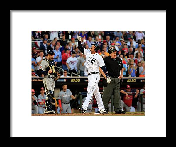 American League Baseball Framed Print featuring the photograph Miguel Cabrera by Rob Carr