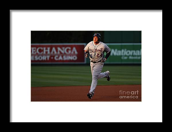 People Framed Print featuring the photograph Miguel Cabrera by Sean M. Haffey