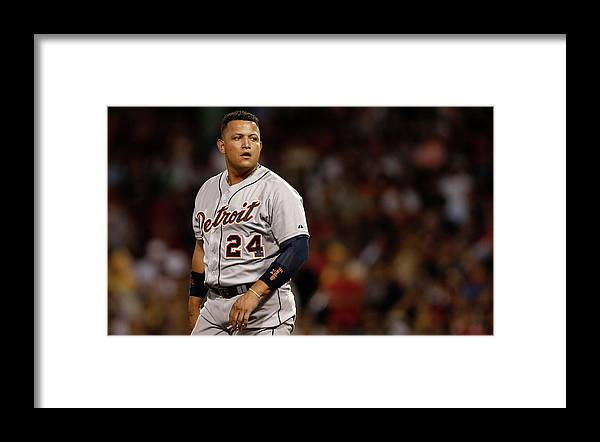 Second Inning Framed Print featuring the photograph Miguel Cabrera by Winslow Townson