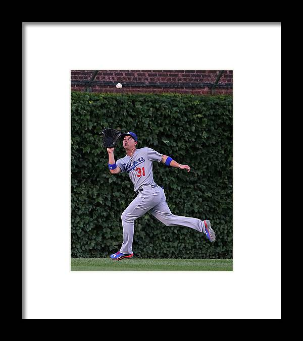 People Framed Print featuring the photograph Miguel Montero and Joc Pederson by Jonathan Daniel