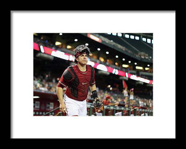 Baseball Catcher Framed Print featuring the photograph Miguel Montero by Christian Petersen